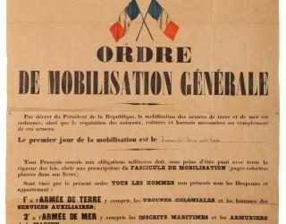Ordre de « mobilisation générale » de 1914