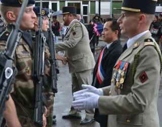 Une cérémonie militaire au collège de Rimogne