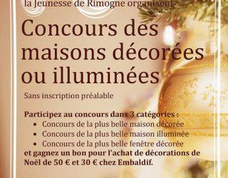 Lancement du Concours des maisons décorées et illuminées.