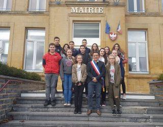 Les lycéens de Saint-Laurent rencontre le Maire.