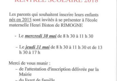 Inscriptions à l'école maternelle Henri Biston