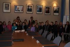 Visite de la mairie par l'école